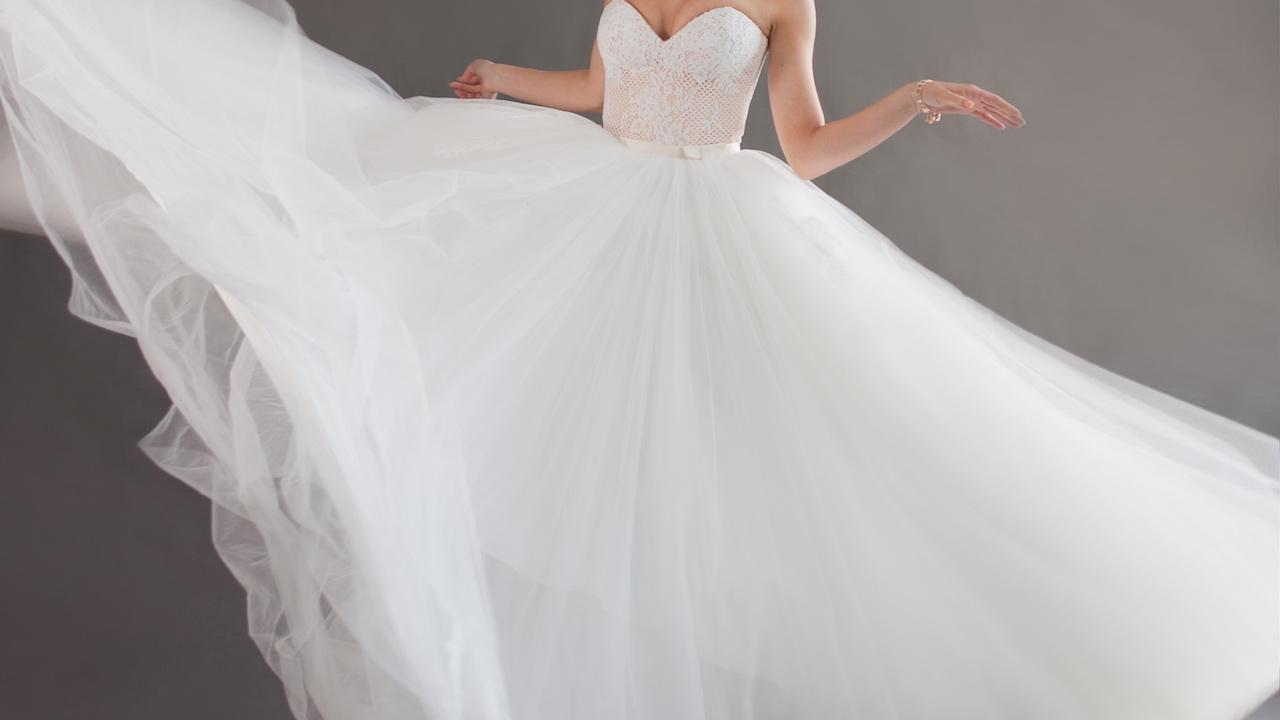Designer wedding dress for less - Home